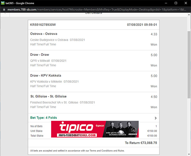 tipico betting fixed matches