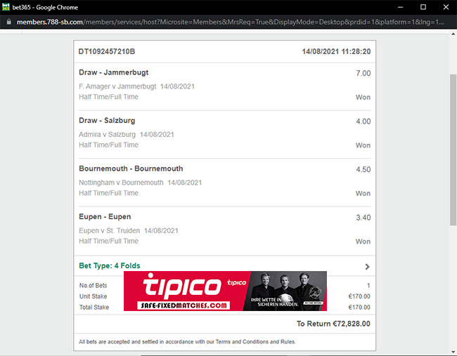 tipico secure fixed matches