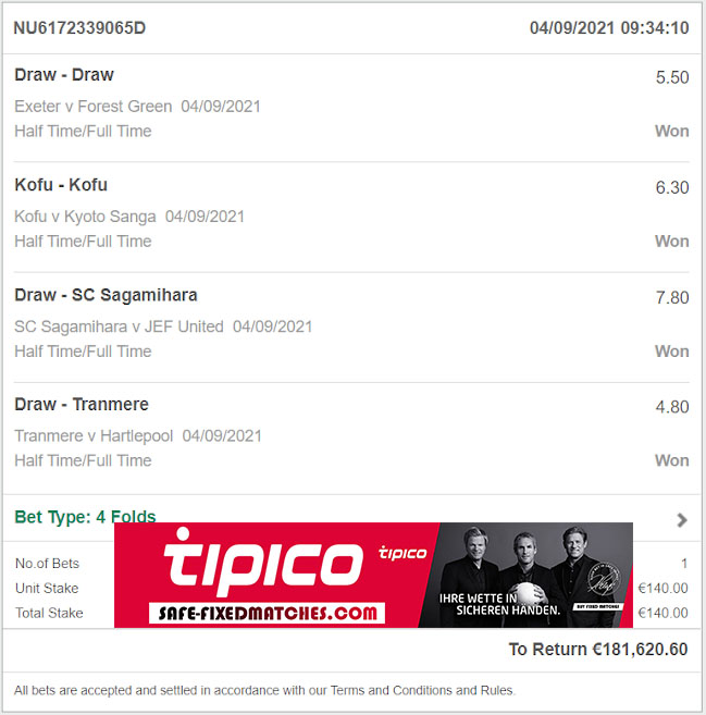 Match Betting Fixed Tips